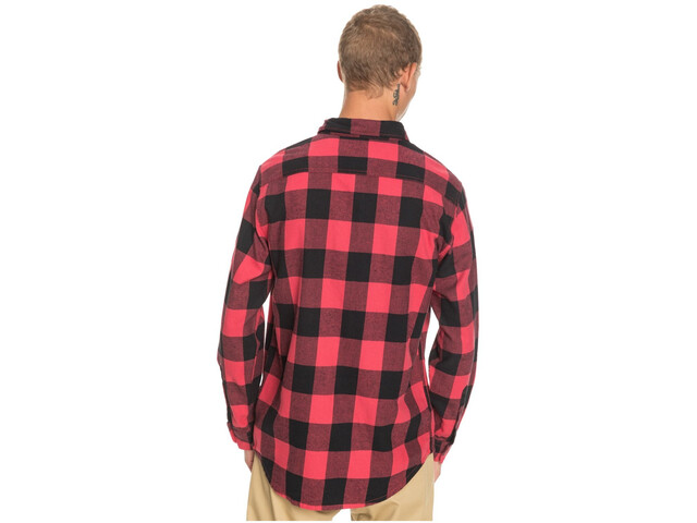 Quiksilver Motherfly Maglietta A Maniche Lunghe Uomo, americas red motherfly